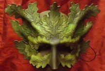 Green Man Masks