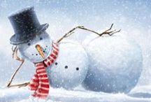 snowmen / love snowmen, love to paint them, sew them. / by Sharron Clavin