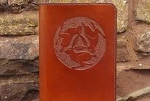 Carved Leather Journal Covers / Hand carved leather journal covers