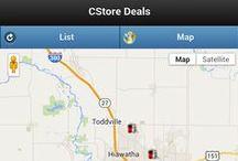 Convenience Store Deals / Screenshots of the mobile app CStore Deals