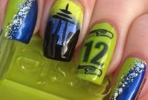 Seattle Seahawks Nail Designs / Nail designs for the lady 12s!