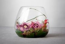 Vase Designs / Flower designs arranged in vase.