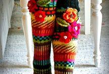 Anelma's flower socks and other wool socks