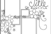 Sketch de pages 12 x 12 / Des modèles pour vous inspirer