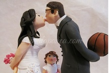 Custom Cake Toppers / A little selection of custom cake toppers. Many elegant or sporting brides and many husbands football fan (after all, we are in Italy!)