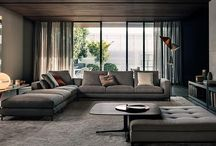 Interior Design: Living rooms / Here you will find images of modern and contemporary living rooms. For other decor styles please see my other boards. Happy Pinning. / by Iliana Sava