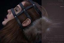 Strecke Darkness / Model | Iris R. MakeUp & Hair | Constanze Prothmann Fashion Design | Freymuth & Nikkoleisen Photographer | Mike Weis Photodesign