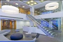 SiriusXM Radio / KGA redesigned the main lobby and live performance studio of the satellite radio provider's headquarters.