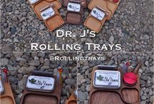 Wood Rolling Trays / Joint Rolling Tray: Handmade