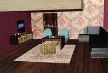 Modelling 3D II ..: * :.. / Modelling of products, interior design Software: Blender 2.59 - Blender render/2009