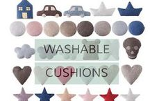 Kid's Pillows & Cushions / Soft, snuggly and so cute, our children's pillows are also machine-washable!  www.lorenacanals.com