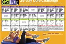 GoFit 25-Day Core Challenge / Strengthen your core to the maximum with multiple core exercises and increased time and repetitions! Equipment needed: Timer, Mat, Towel, Water (Kettlebell or Hand Weights Optional)