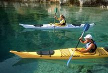 oar, paddle or pole / Muscle power and where it takes you! Kayaks, canoes, punts, rowboats, skiffs. / by Tim Abbott