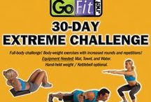 GoFit 30-Day Extreme Challenge / Full-body challenge! Body-weight and core exercises with increased rounds and repetitions every day! Check each day off as you go! Equipment needed: Mat, Towel, and Water. Hand-held weight / Kettlebell optional.