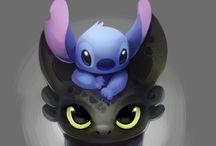 Toothless plus stitch / Cuteness plus 2