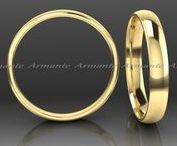 Wedding bands / Solid gold hand made wedding bands