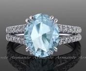 Color stone engagement rings