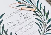 Wedding invitation / the prettiest paper which is very essentail for your wedding