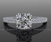 Moissanite and Diamond Rings / Moissanite and Diamond Rings.