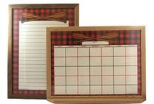 Buffalo Plaid / Inspired by summer camp, lake houses, and nights around the bonfire... Our Buffalo Plaid whiteboard design.