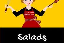 Salads / Salad do not have to be boring, many are delicious nutritious and beautiful.  Check out the salad ideas featured at Coach Mindy.