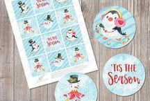 Christmas Ideas / Winter holiday cards, gift tags, and more