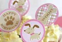 Pink Puppy Party / Pink Puppies for Birthday Parties or Baby Showers!