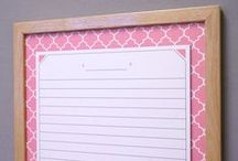 Moroccan Tile / Our Moroccan-inspired dry erase boards combine a soothing, symmetrical design and bold pops of bright colors – flamingo pink, saffron yellow, ocean blue and deep gray.  The whiteboard calendars, menu planners and memo boards have plenty of writing space to keep you organized and are finished with a solid wood frame.