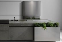 Kitchens - Cocinas - Cuisines / Simple, minimalist, natural, unpretentious kitchens with style, function and design in mind Cement tiles, wood, concrete and steel, sometimes a splash of colour... and shelves... / by Sequoia Living