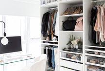 closet. / Wardrobe, closet and vanity storage and organisation ideas.