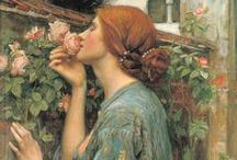 The art of J.W. Waterhouse / John William Waterhouse was born in 1849 and painted Pre-Raphaelite themes in an Academic modification of Impressionism. He died in 1917.