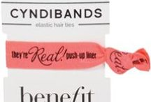 Custom Printed Promotional Hair Ties / Put your logo or custom message on CyndiBands hair ties and packaging. Perfect for corporate events, party favors, sorority events and giveaways. For more information and pricing visit www.cyndibands.com