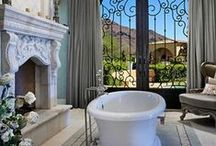 Bathrooms / Glamorous chic luxurious bathrooms and powder rooms