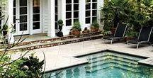 B A C K Y A R D  R E T R E A T / Backyard oasis, landscaping, decor, relaxing luxurious space. Backyard ideas.