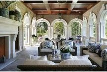 Patio & Veranda decor / Chic relaxing and inviting patio's and veranda's