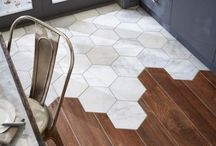 FLOORING / Beautiful floors, new tile designs, hallway flooring, kitchen tiles. Wood flooring, hardwood, and marble tiles.