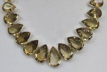 Citrine Quartz / #Citrine #Gemstone #Jewelry #DailyBling #Quartz #Crystal http://www.andreajayecollection.com/collections/citrine