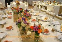 Rustic wedding deco in purple and orange / Rustic wedding in purple and orange  Сватбена украса в рустикален стил в лилаво и оранжево :)