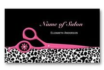 Girly Fashion Business Cards / A collection of girly fashion business cards for hair salons, cosmetology, personal trainers, and personal profile cards.