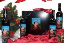 Christmas Wine Gift Basket / http://www.oilwineitaly.com Christmas Wine Gift Basket