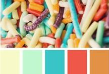 Flavored With Color / At Nelly Bloom, we're always in awe at the wide array of colors found in nearly everything. Then you have infinite hues and color palettes within any given pigment. Here we'll pin some palettes that inspire us.