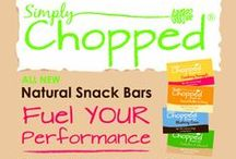 Healthy Eating & Living / Delicious Snack Bars. Certified Gluten Free. Dairy Free. Kosher. Raw Honey. No fillers. 2 Bars. Outdoor Enthusiasts. Eco Friendly. Lovers of Animals. www.simplychopped.com / by Simply Chopped Snack Bars