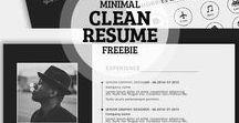 TEMPLATES CV / Des thèmes et inspirations pour un CV propre et original
