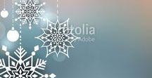 Christmas Design Elements / Vector Illustrations for Christmas Design.
