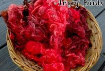 Hand Dyed Wool and Mohair Locks / Use wool and mohair locks in spinning yarn, blending fiber, or as doll hair!