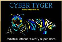 Cyber Tyger / Cyber Tyger (aka, Cybr Tygrrr!) is a webpage, Pinterest board, internet safety hero and archenemy of Troll Man. He is a young white Bengal Tiger superhero who protects kids, their friends and loved ones. Cyber Tyger is an internet safety character for children (K-6) designed to introduce basic internet safety concepts to young children. The Cyber Tyger & Troll Man characters were created by NYS licensed psychologist and iPredator Inc. founder, Michael Nuccitelli, Psy.D.