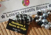 ♥ BIJOUX NOIRS / http://www.pinterest.com/webinternet/mes-creations-de-bijoux ❤️ naviginternet@orange.fr ❤️ MON BLOG : http://creatrice-bijoux.blogspot.fr