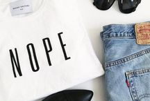 T-shirts with text