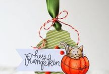 Etiquettes Halloween, automne...