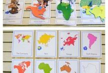 Geography Learning / Children's activities for learning geography.